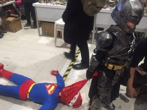 this kid nailed it! portraying the much awaited movie in 2016, Batman VS Superman